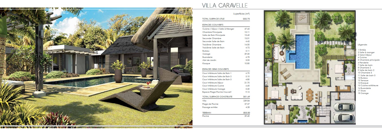Villas ile maurice for Plans de villa