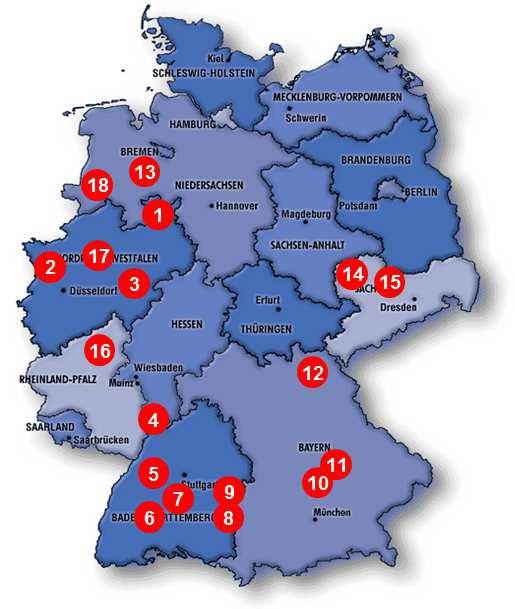 Le Patrimoine de la SCPI Novapierre Allemagne à fin 2106