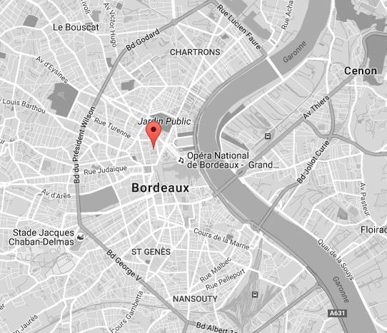 Localisation programme Esprit Tourny à Bordeaux
