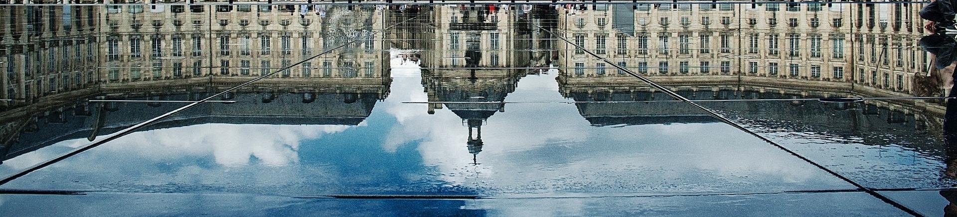 Miroir eau Bordeaux