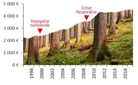 Evolution du prix de l'hectare
